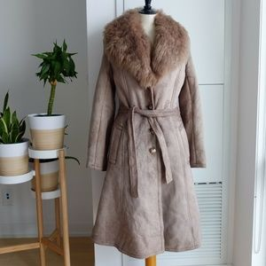 Jackets & Blazers - Long Shearling Coat Lapel Winter Fur Sheepskin S